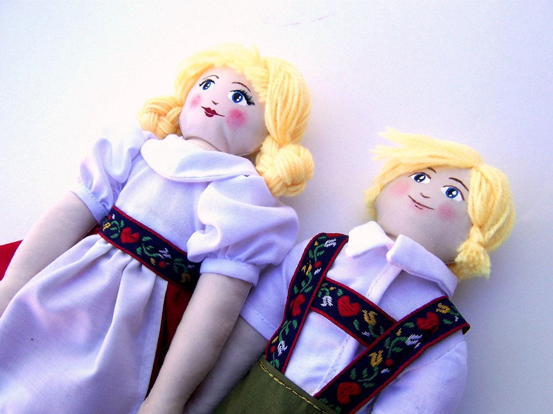 Hansel and Gretel Costume Art Dolls