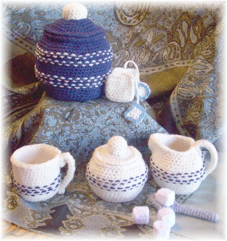 Crochet Tea Set... PDF Pattern