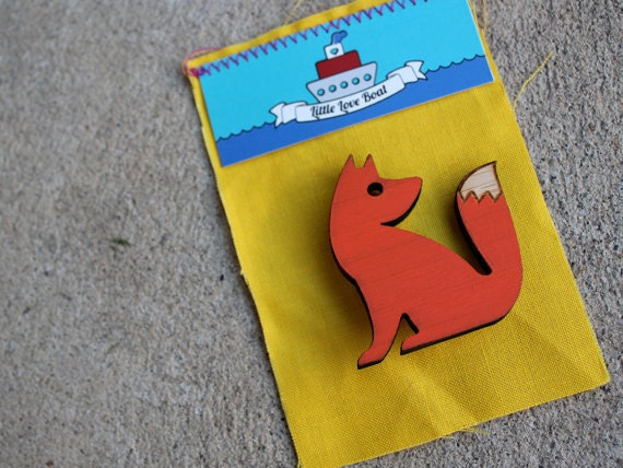 Foxy friend - new brooch