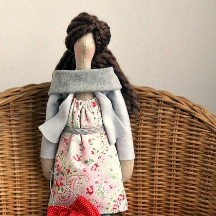 Özel OOAK Kumaş Doll Sipariş için yapılmış