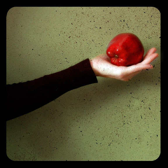 Ttv Photograph - Apple 8x8 print red green color fairytale snow white dramatic whimsical photo