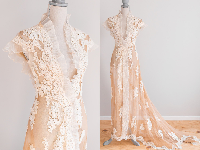 s french wedding dresses UFOtyIyXWoTWvlzZnQatM*pLKNI wedding dress RESERVED Antique Tea Stained Victorian Edwardian Wedding Dressing s Fashion Bridal Dresses