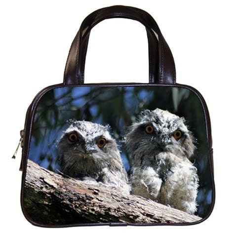 "Classic Leather Handbag ""Baby Tawny Frogmouth"""