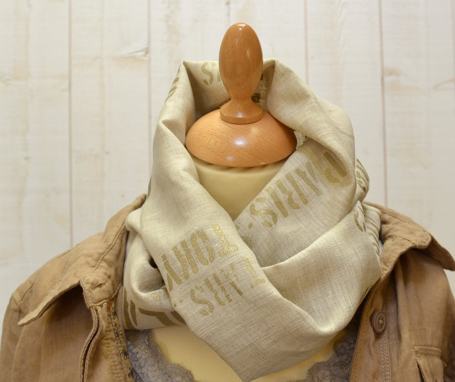 Fall accessories modern  LA LUNE  - French  Linen scarf