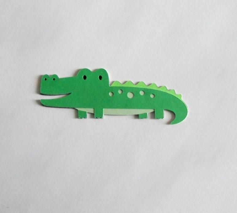 Crocodile Die Cut Pack of Five - 2in.
