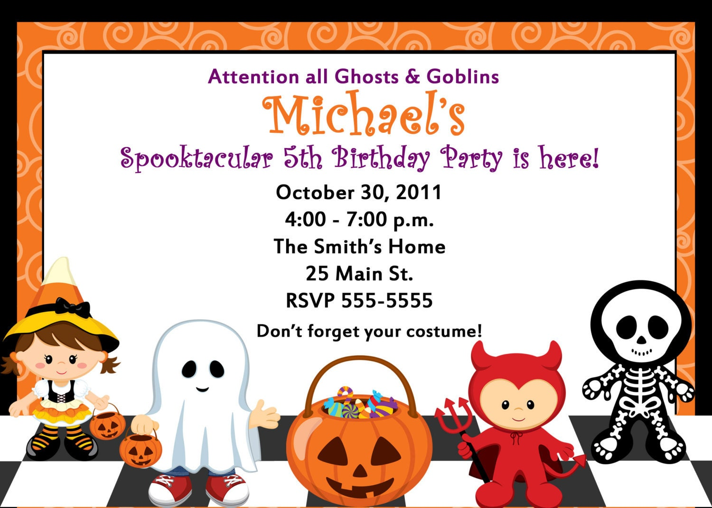 mommys treasures Kids Halloween Party – Kids Halloween Party Invitation Wording
