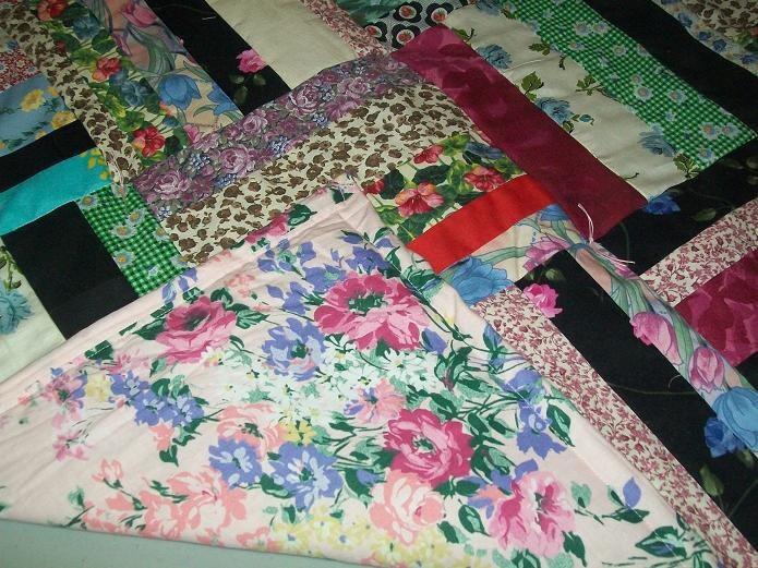 Flower Fabric Quilt