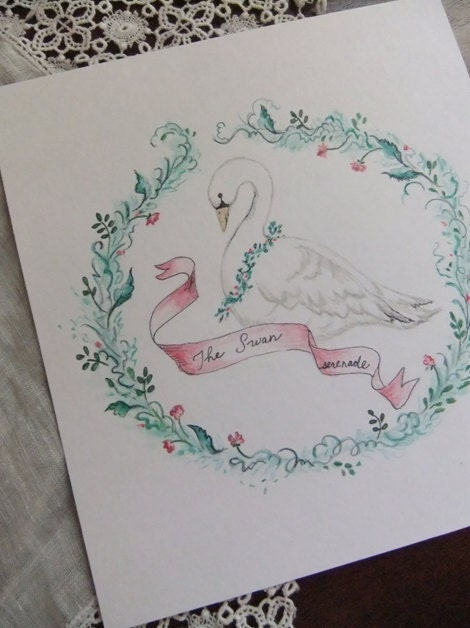 Swan Song-- Whimsical Decorative Painting