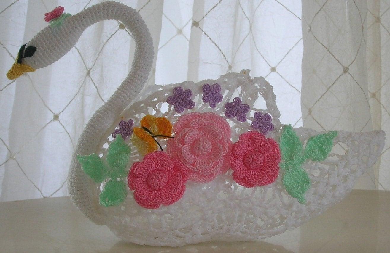 Swan Queen Crocheted Centerpiece PDF Crochet Pattern