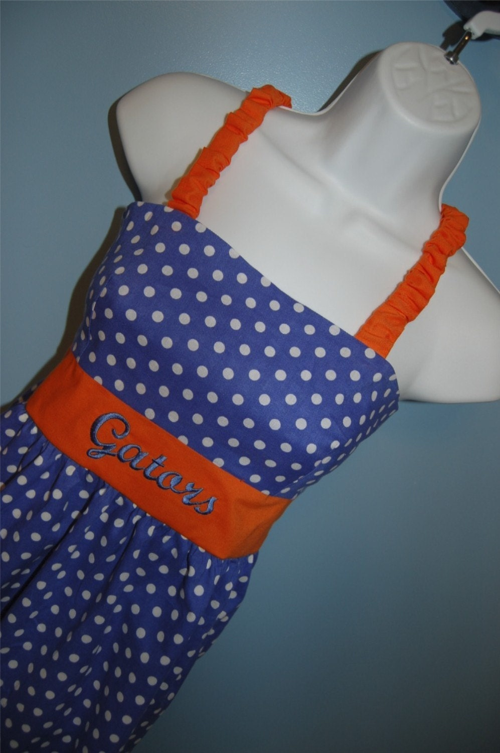Handmade Go Gators Polka Dot Dress Womens Sizes XS to L