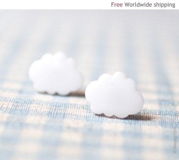 White Cloud earrings   (E046) - BeautySpot
