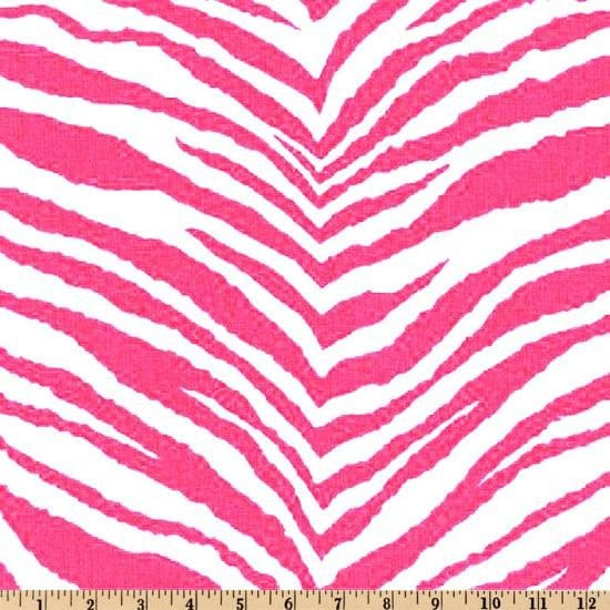 ZEBRA TABLE RUNNER candy pink fuchsia hot pink and white zebra runner