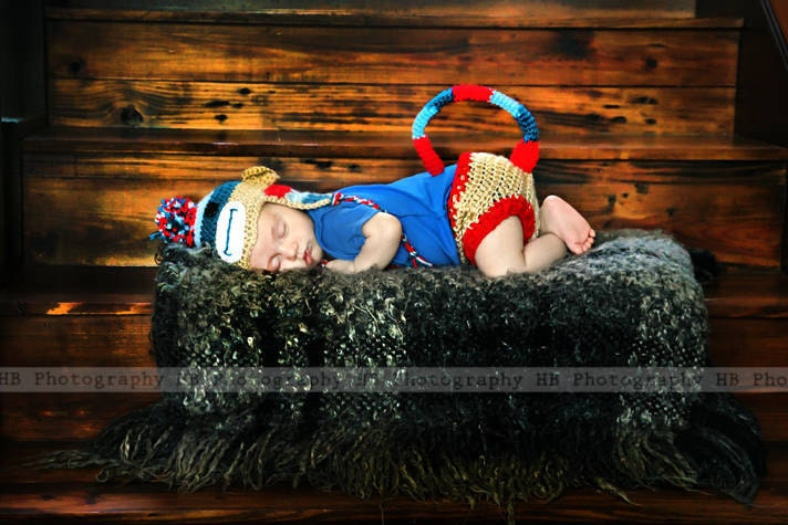 newborn phot props Diaper cover or cape and hat sets / custom /Photographers Props / Special  Five