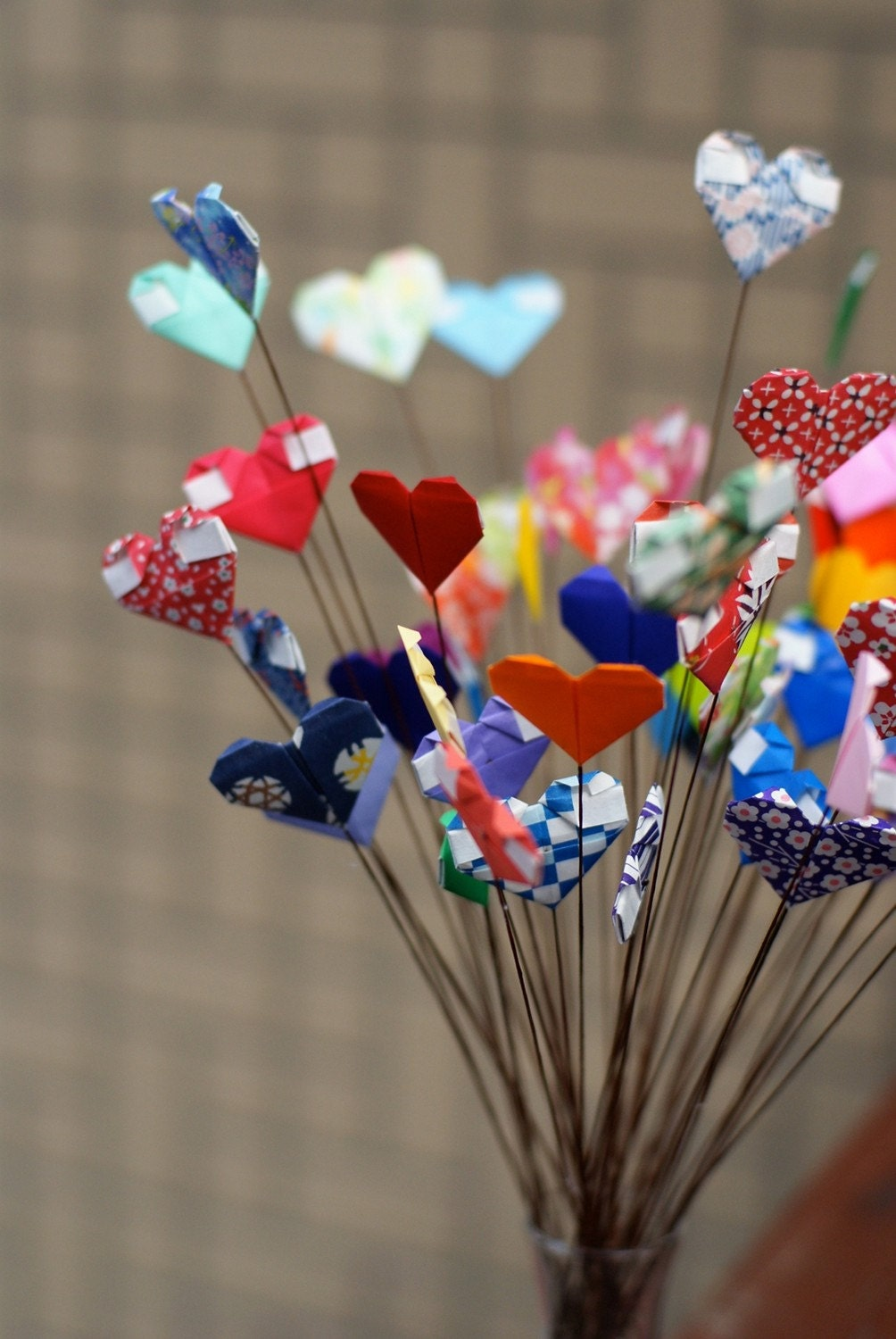 I Heart You - Origami Hearts Bouquet
