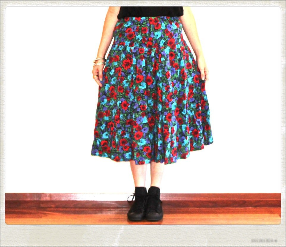 Bright indie maxi skirt