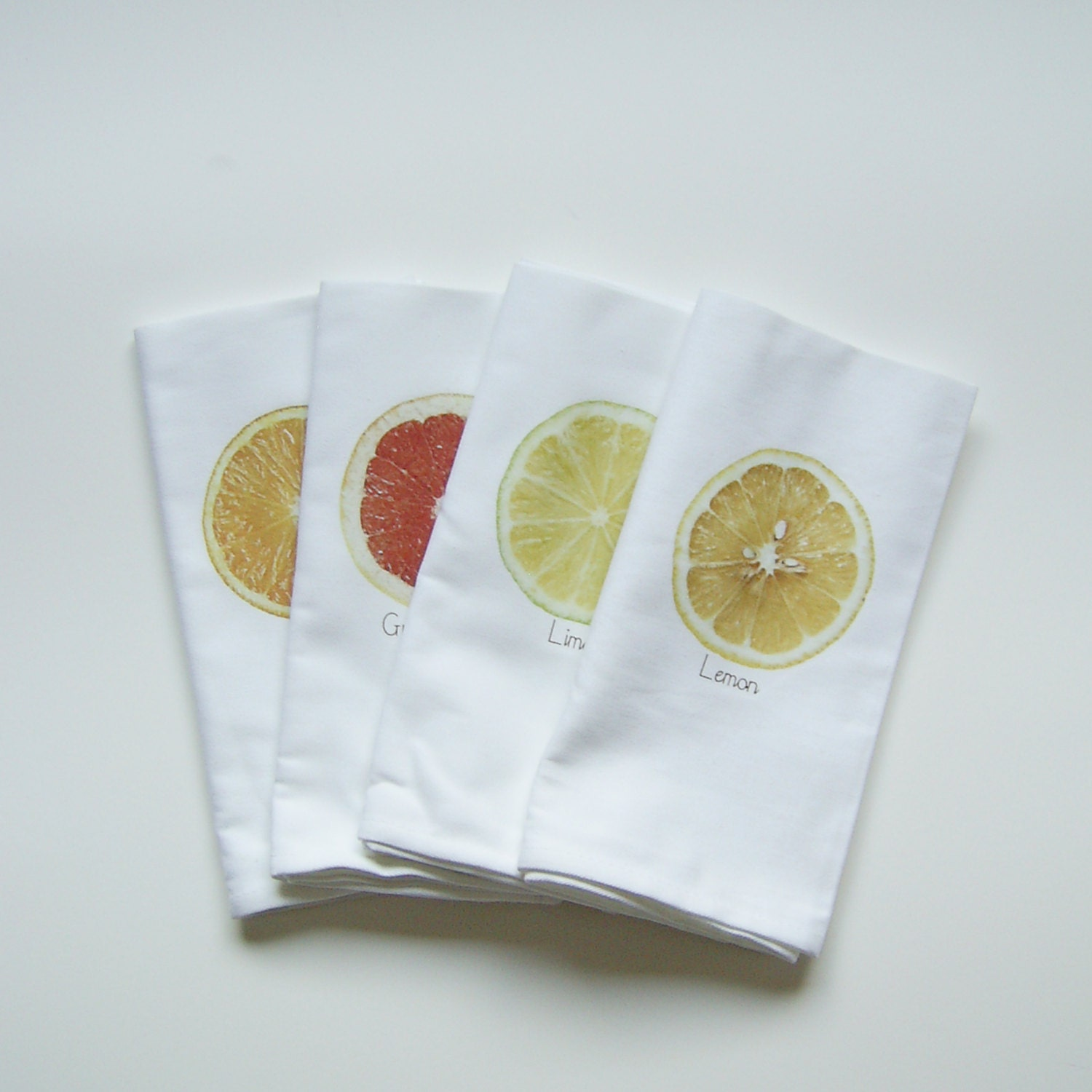 Fresh Squeezed Napkins  - Set of FOUR - nicoleporterdesign