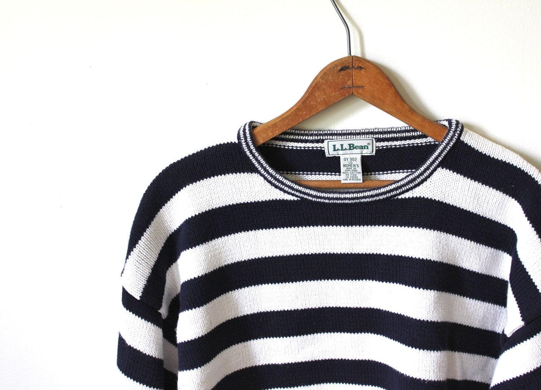 vintage L.L. BEAN nautical sweater. L - SimpleThrift