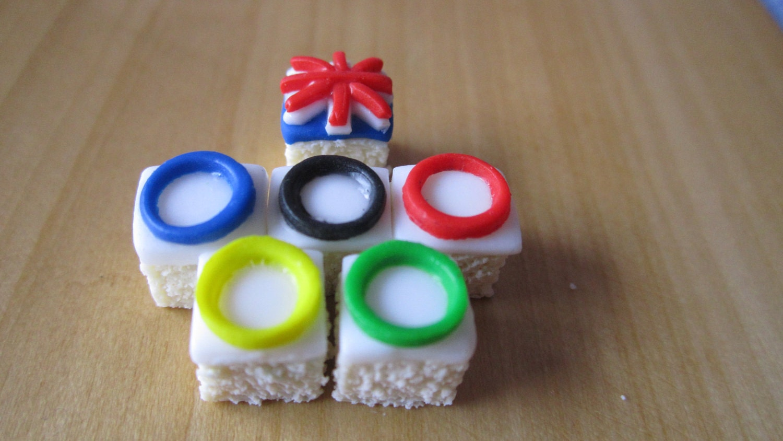 Olympics 2012 cake squares