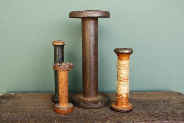 Vintage Wooden Industrial Spools