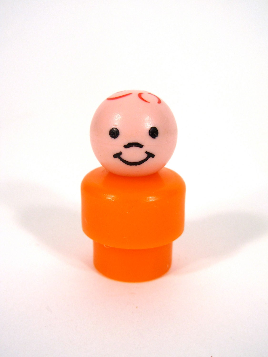 Fisher Price Little People Plastic Boy with Orange Body - Number2PenSo