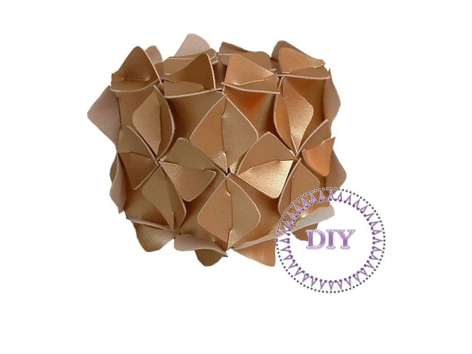 DIY Home-Golden Cube-box, dekor, DIY Kit put&pull