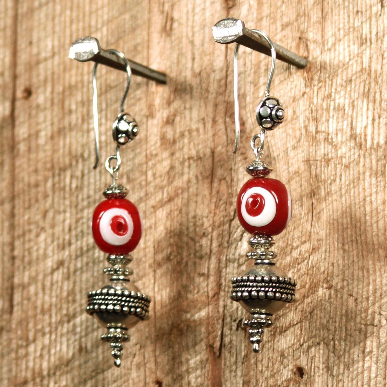 Ox Blood Moon Earrings (as gifted to Zooey Deschanel)
