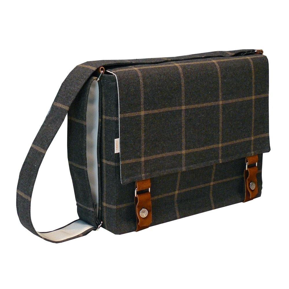 "15 "" Laptop Messenger Bag - Italian Gray Wool Messenger Bag.  Mar 13, 2012."