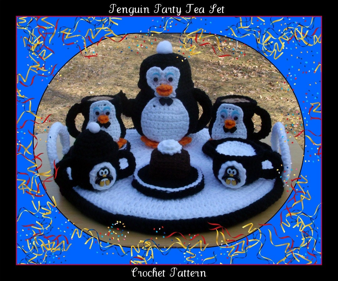 Penguin Party Tea Set Crochet Pattern