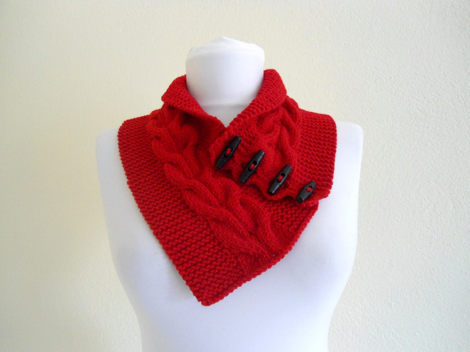 unisex, Red neckwarmers, wool, hand-knitted,fashion,gift, valentine, valentines day, winter trends, fashion, 2012