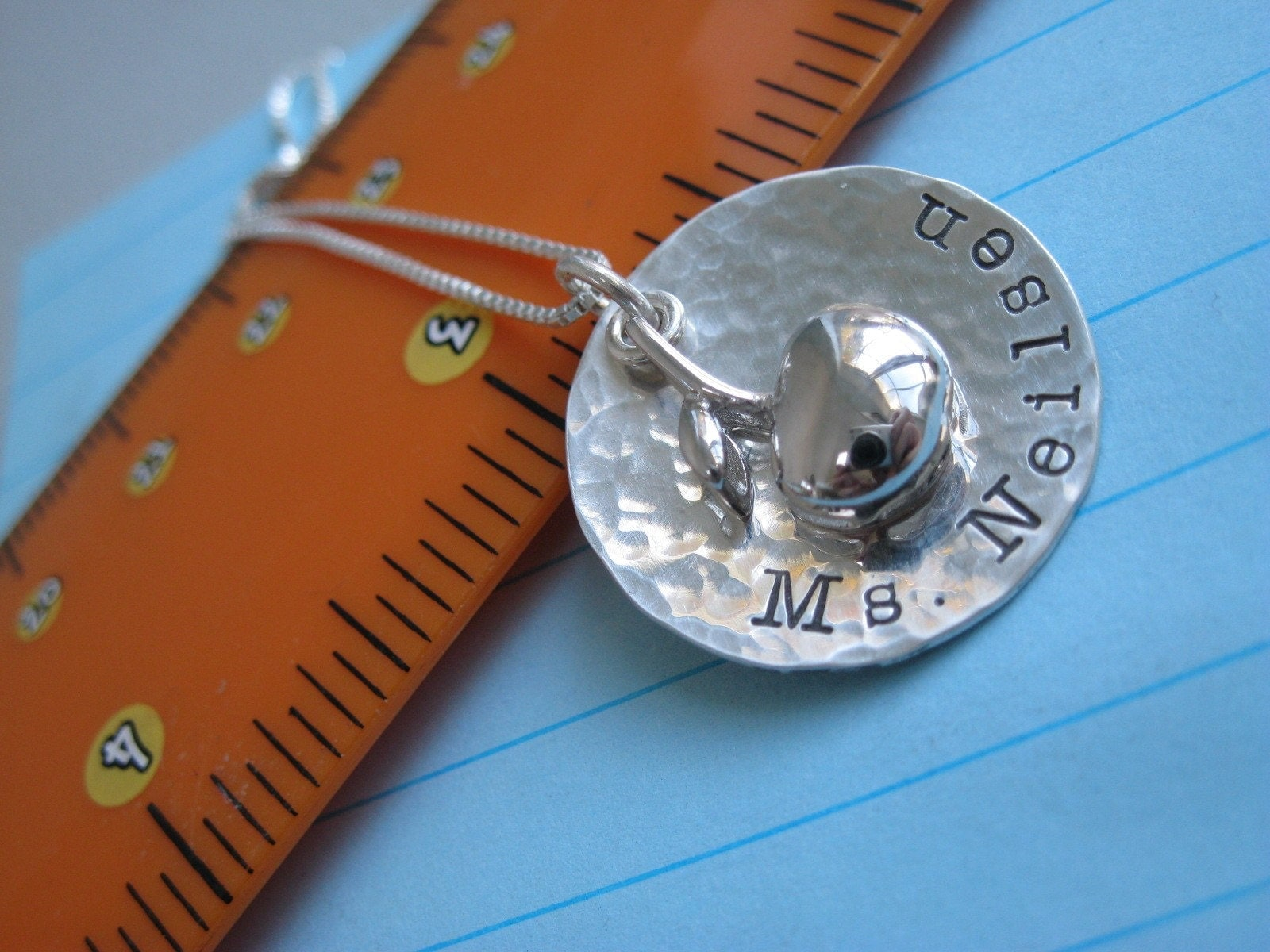 Personalized Hand Stamped Sterling Silver Necklace Making the Grade