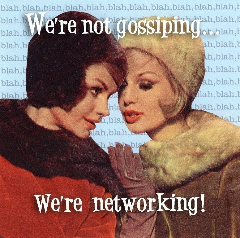 CLEARANCE. We're not Gossiping, We're Networking Magnet