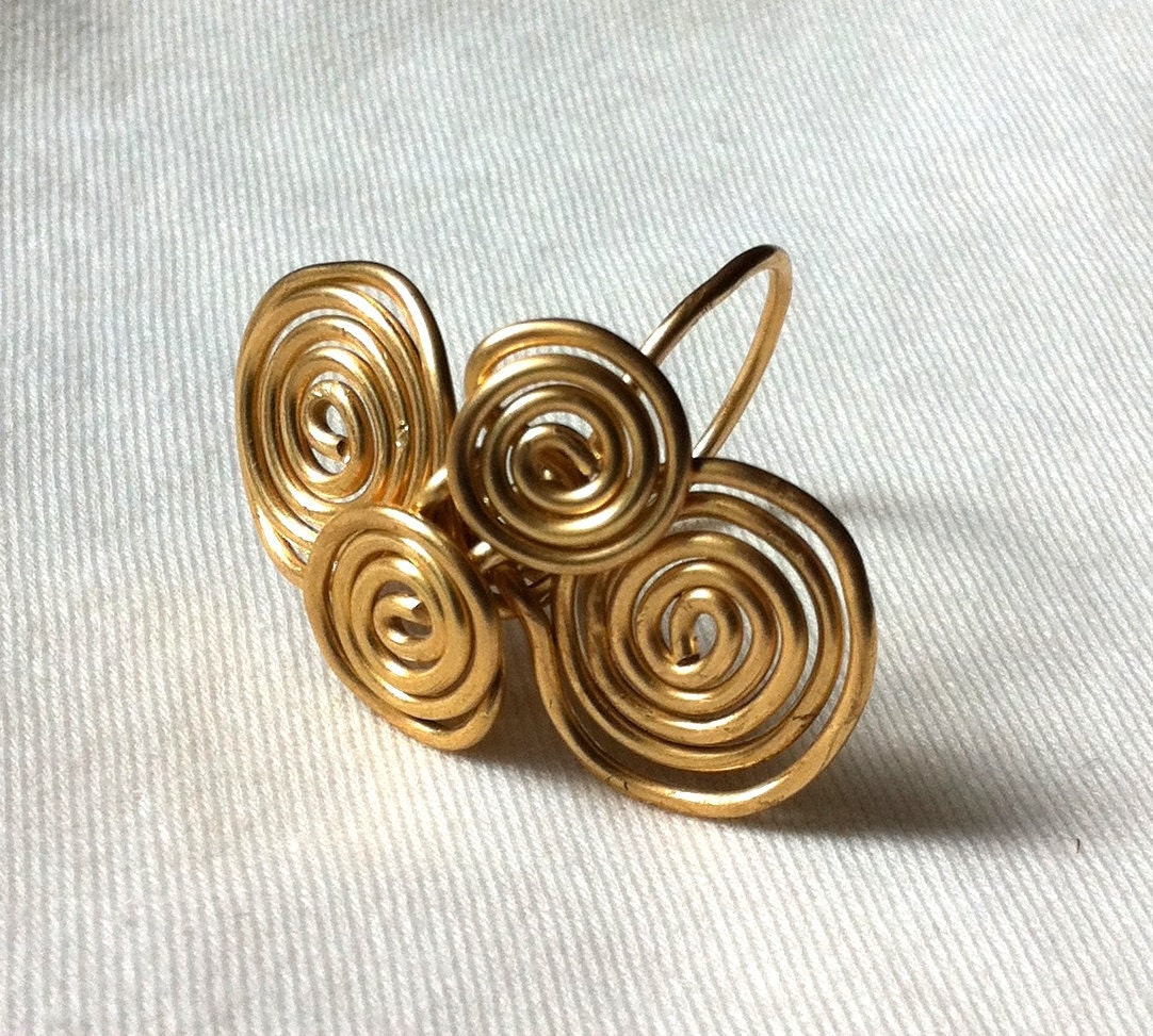 EGYPTIAN SWIRLS -  Brass Ring
