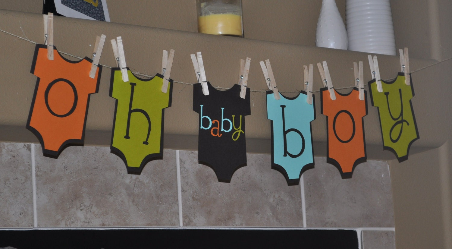 baby boy onesie banner baby shower onesie theme baby boy party