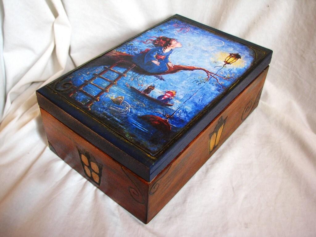 Декоративная коробка для пакетики Гармония