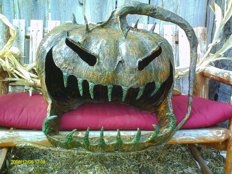 papier mache pumpkin