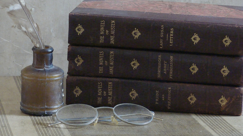 1892 jane austen set of three antique books