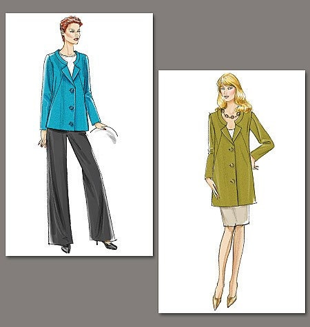Vogue Sewing Pattern V8464 - Misses' Jacket, Skirt and Pants - Very Easy Vogue  - SZ 18/20/22/24