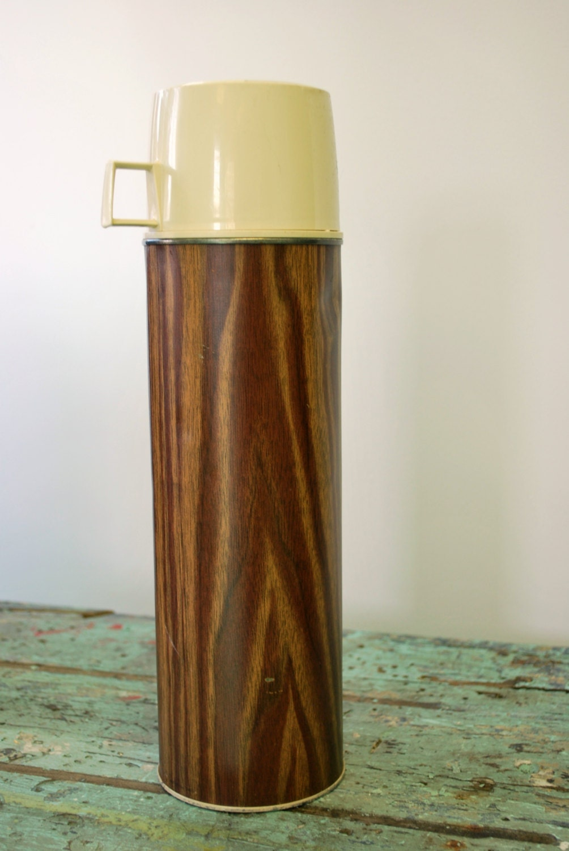 Spring SALE-Vintage Wood Grain Thermos