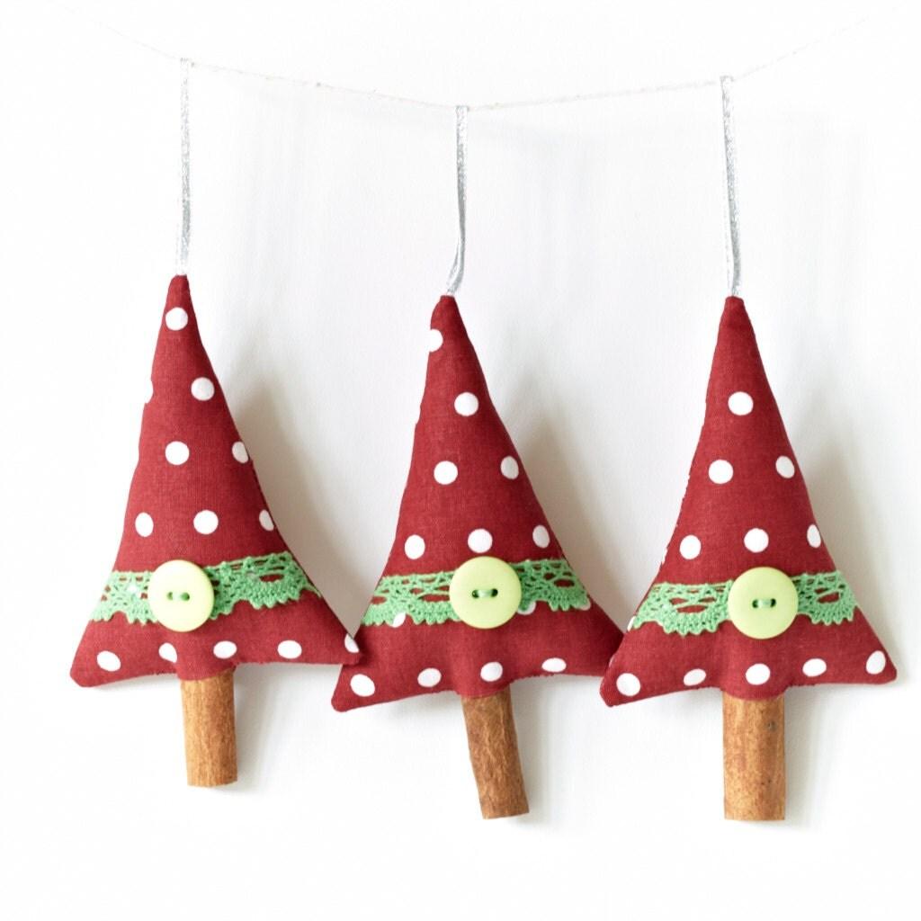Новогодние украшения ручной красный и зеленый кружево набор из 3