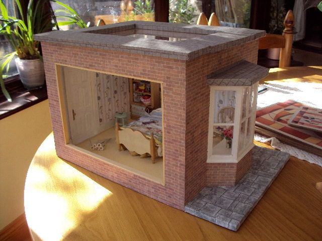 Dolls House Miniature Decorated Room Box - LittleHouseAtPriory