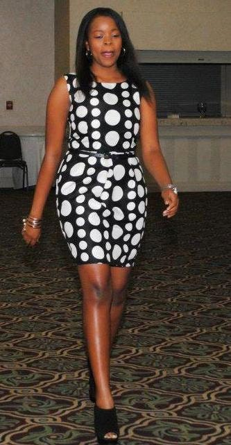 Black and White Polka dot  Dress,siz4 8/M - TabithaCreations