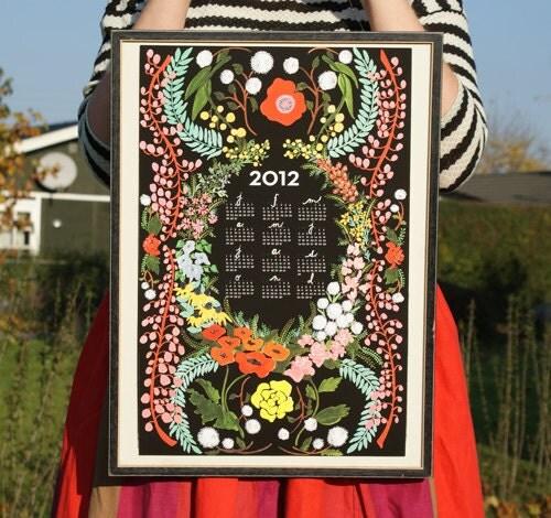 Pre-sale Language of Flowers 2012 giclee print wall calendar