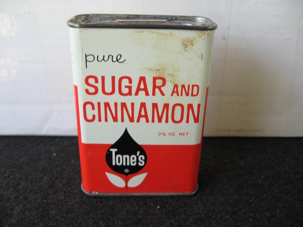 Vintage Tones Sugar and Cinnamon Spice Tin - BandSBargains