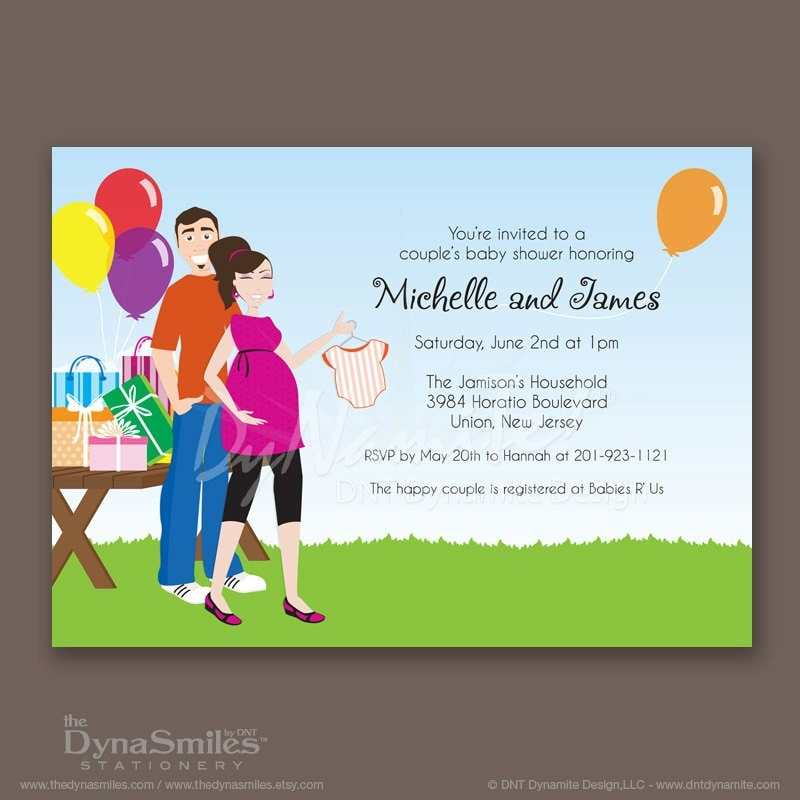 Outdoor Couple - Baby Shower Invitation
