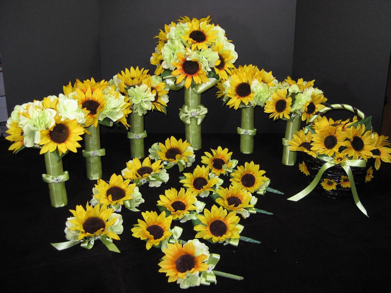 Sunflower Hydrangea Bouquets Wedding Day Ideas Pinterest