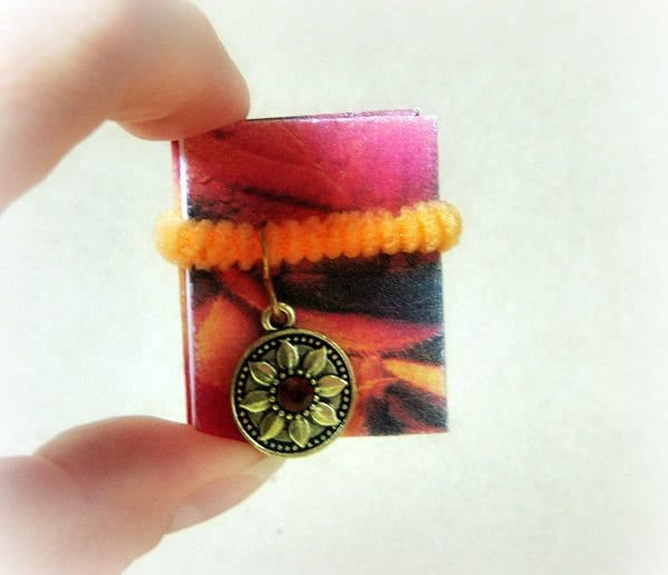 Miniature Autumn Leaves Poetry Accordion Book