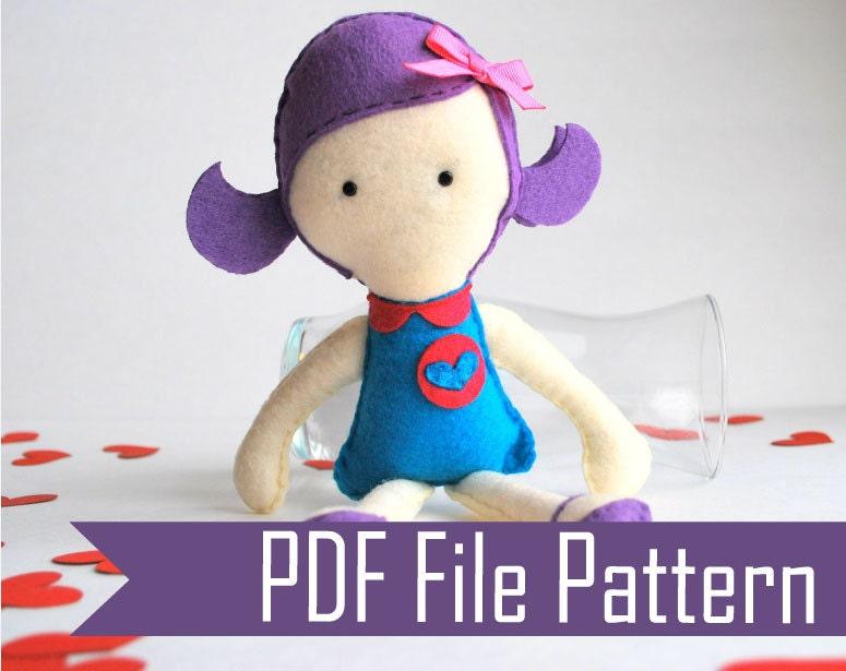Violet Rag Doll PDF Sewing Pattern A491