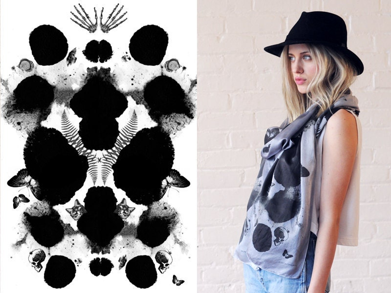 SILK SCARF - The Rorschach