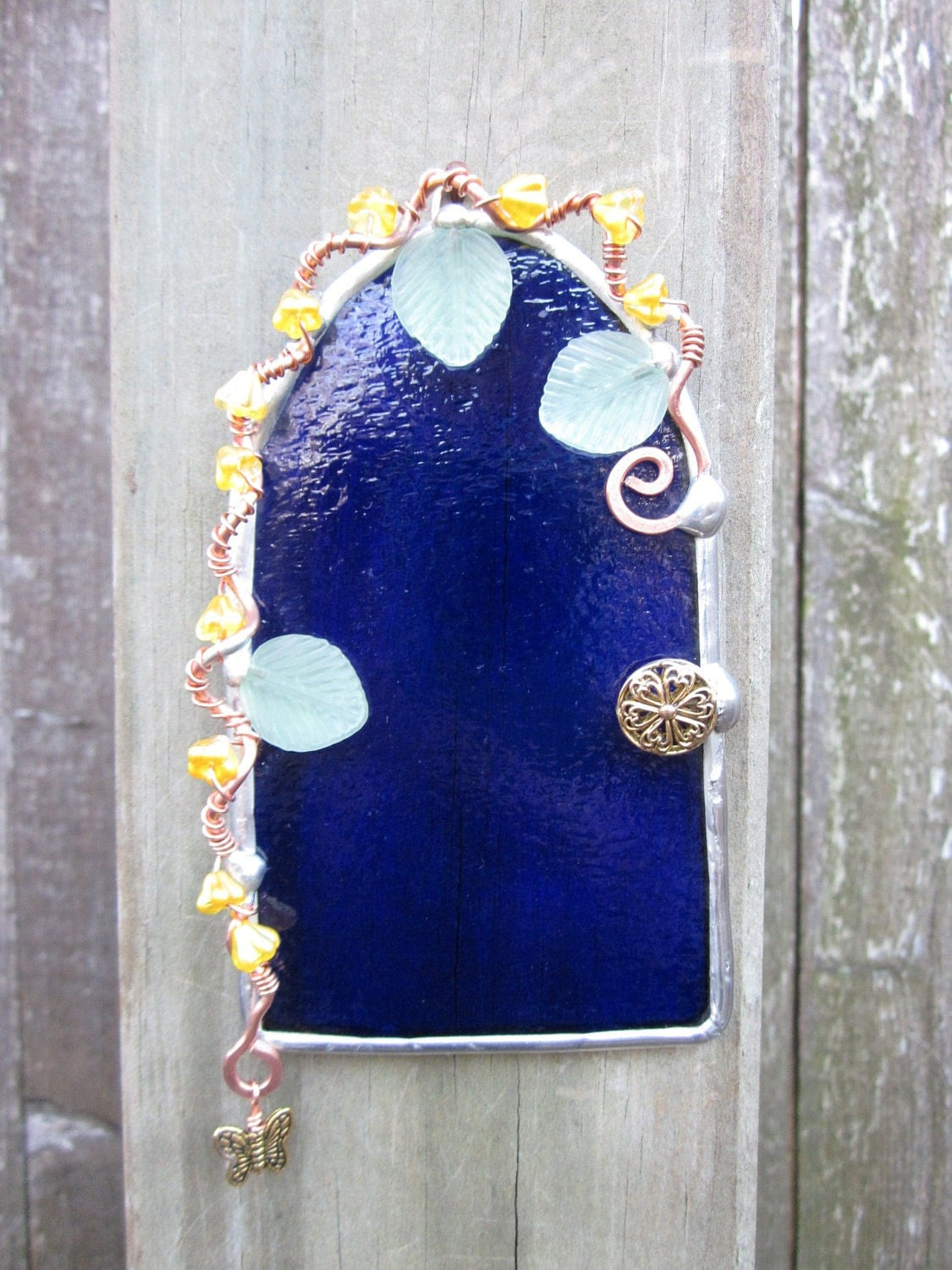 Royal Blue Fairy Door - GatheringStars