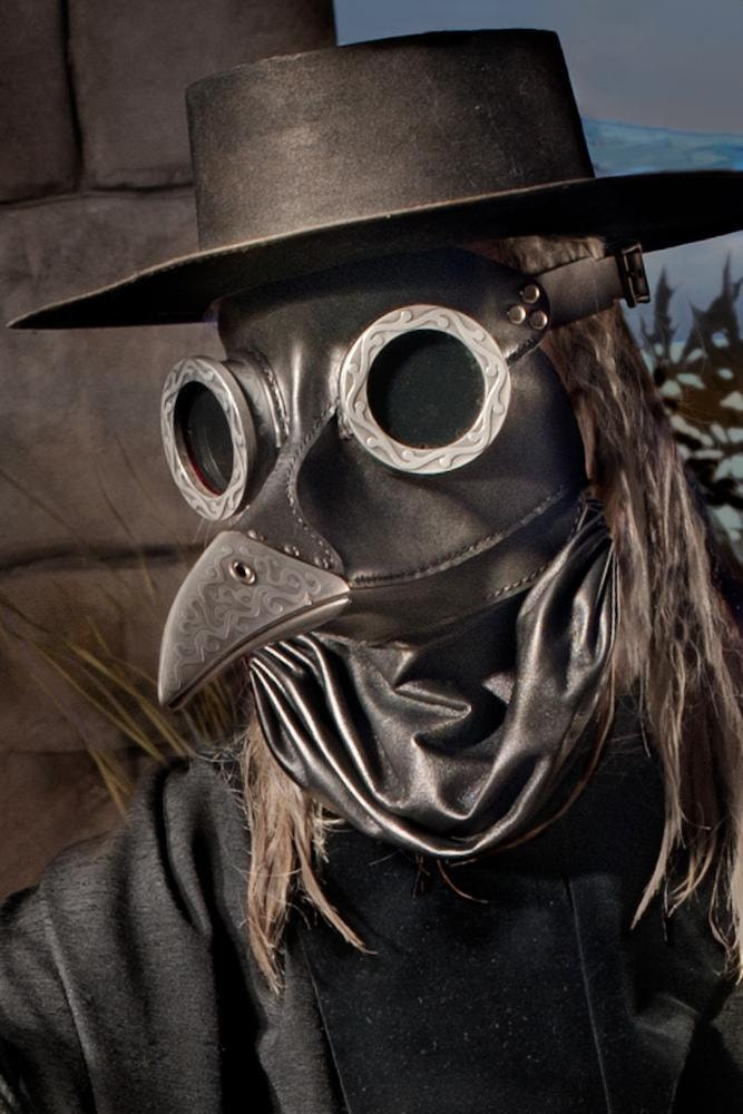 Rubble Ichabod Steampunk Plague Doctor Mask In Black By Tombanwell